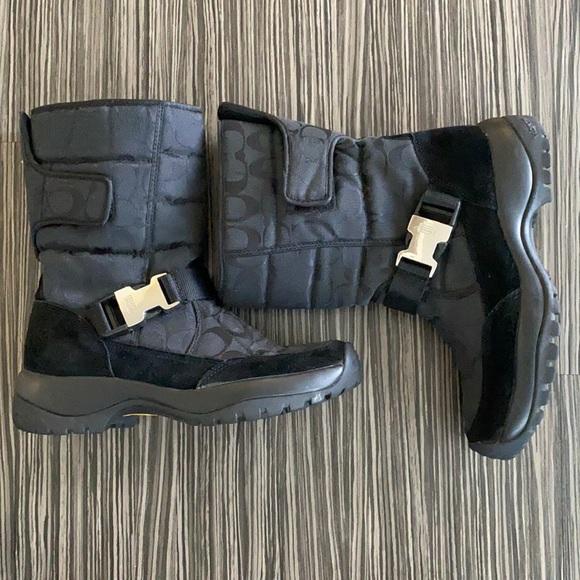 Coach Monogram Boots